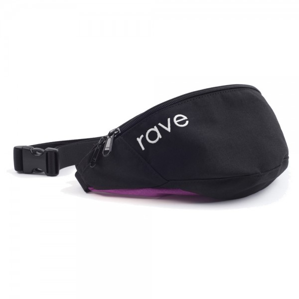Banane Rave Waist Pack Black Purple