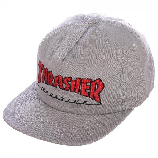 Casquette Tharsher Snapback Outlined Grey Red