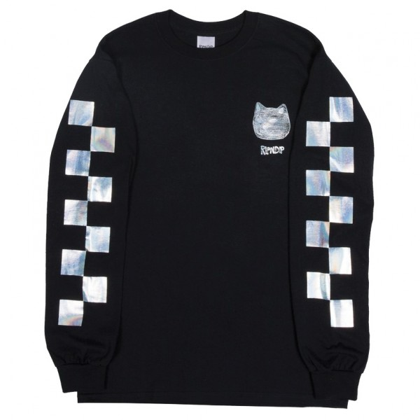 Tee Shirt Rip N Dip Illusion L/S Black