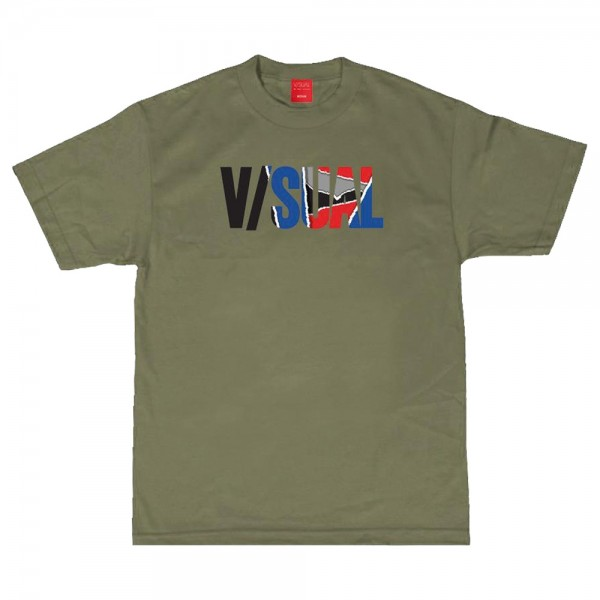Tee Shirt Visual Ripped Olive