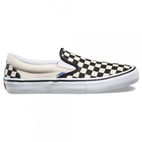 Vans Slip On Pro Checkerboard Black White