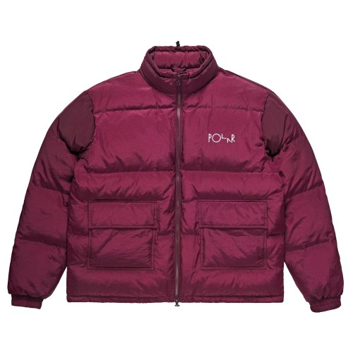 Parka Polar Pocket Puffer Prune