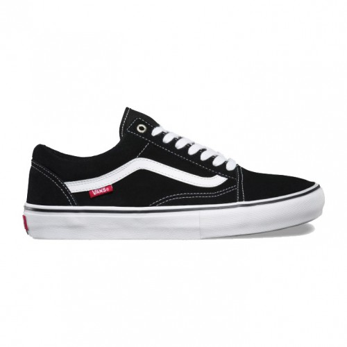 Vans Old Skool Pro Black White Red - chaussures de skate vans