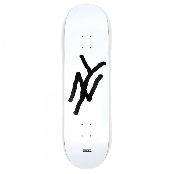 Board 5 Boro NY Monogram White