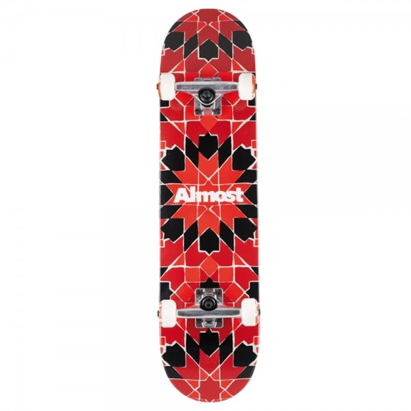 Board Complete Almost Tile Pattern Red