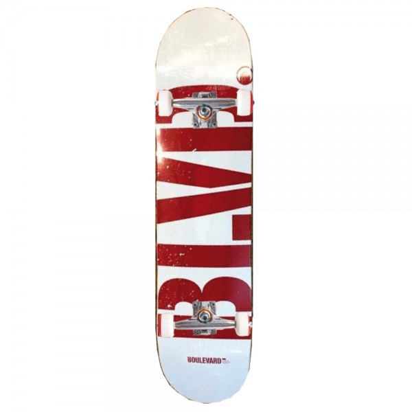 Board Complete BLVD Logo White Red
