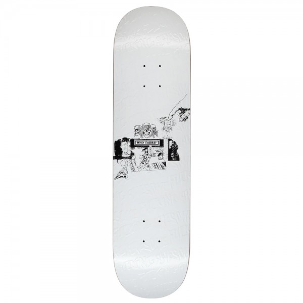 Board Fucking Awesome Who Cares White Louie