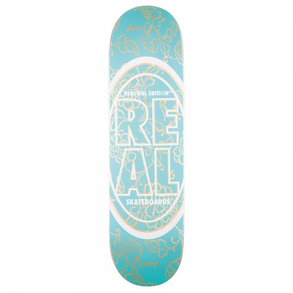 Board Real PP Stacked Oval Floral Teal