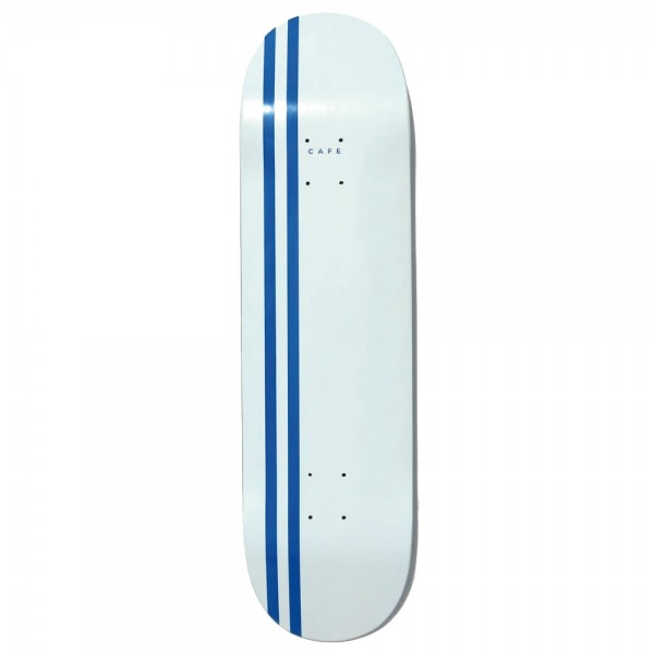 Board Skateboard Café Stripe Deck White Royal