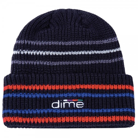 Bonnet Dime Stripe Beanie Black