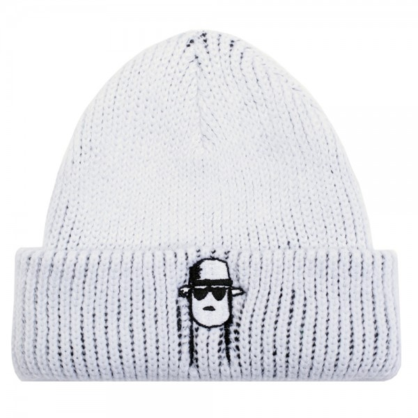 Bonnet Fucking Awesome Spike Beanie White