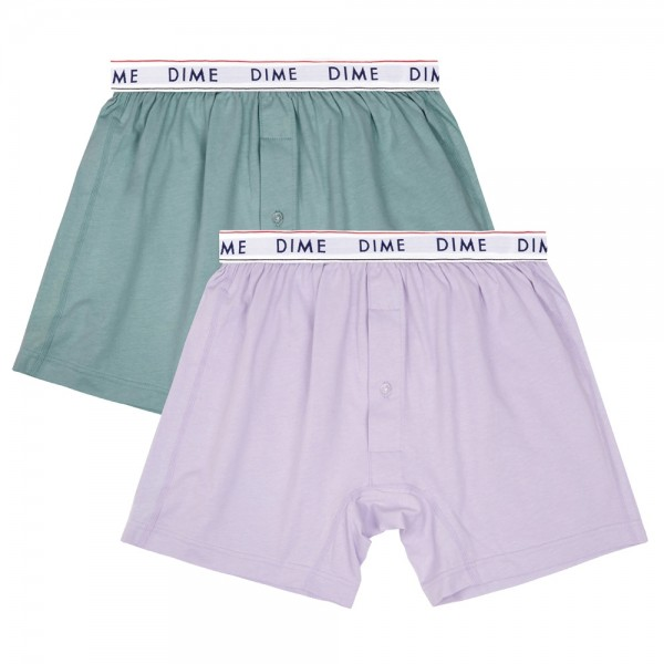Boxer Dime Loose Fit Green Light Purple 2 Pack