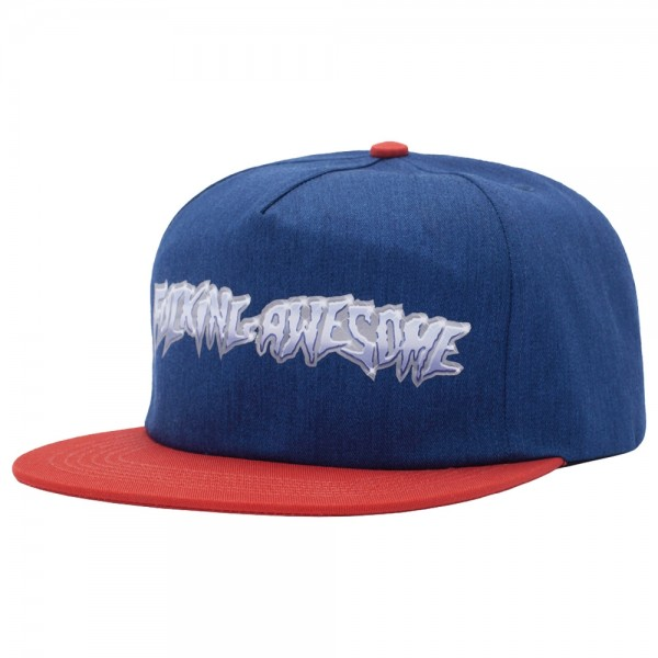 Casquette Fucking Awesome Chrome 5-Panel Cap Navy Red
