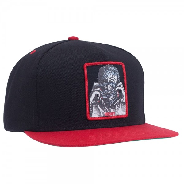 Casquette Hockey Barbwire 5 Panel Snapback Black Red