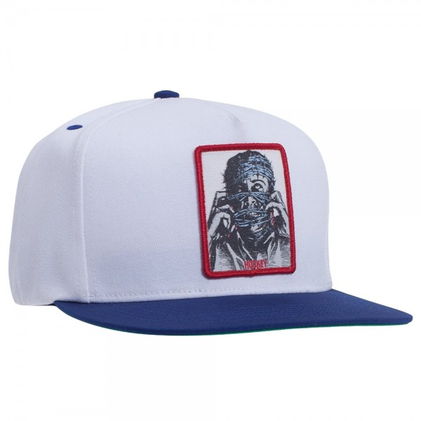 Casquette Hockey Barbwire 5 Panel Snapback White Blue