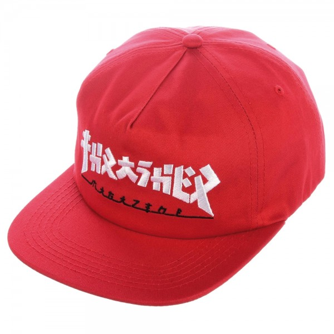 Casquette Thrasher Snapback Godzilla Red
