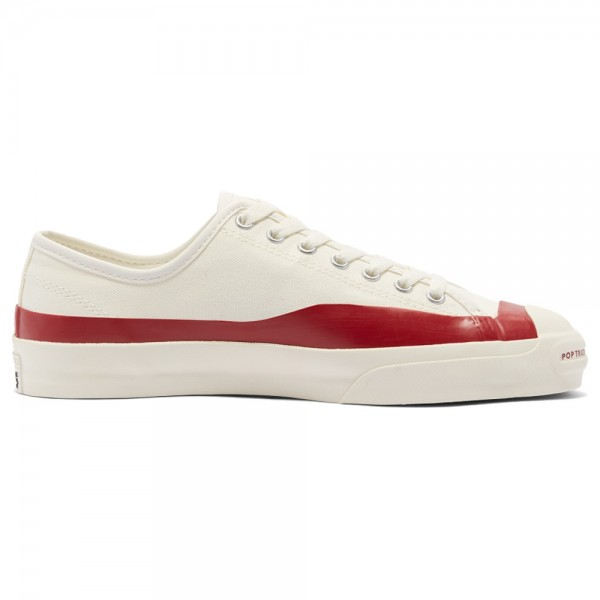 Converse Jack Purcell Ox Pro Pop Trading Company Egret Red Dahlia