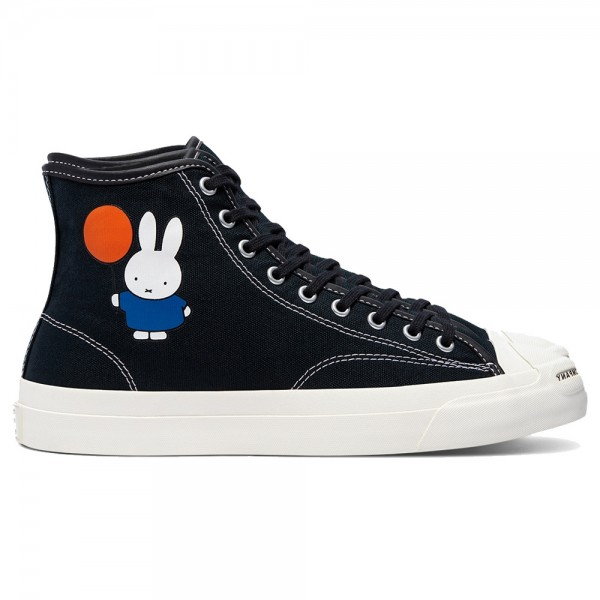 Converse x Pop Trading Company Jack Purcell Pro Hi Black White Egret Miffy Canvas