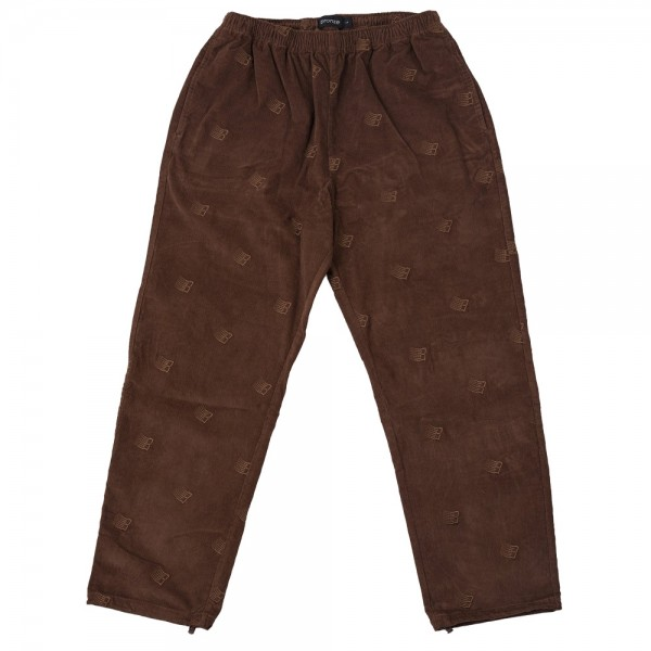 Pantalon Bronze 56 K Embroidered Cord Pant Brown