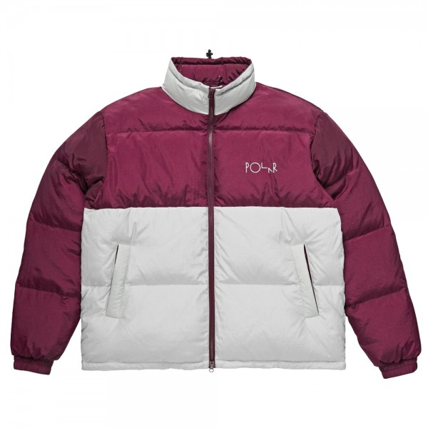 Parka Polar Combo Puffer Prune Ice Grey