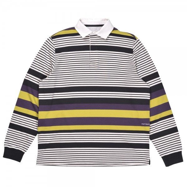 Polo Pop Trading Company Striped Rugby Polo