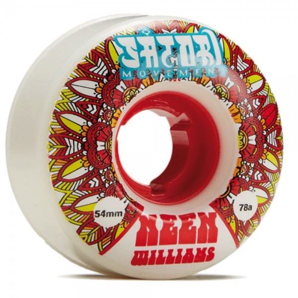 Roues Satori Native Cruiser Neen Williams Conical Shape 78 A White Urethane With Red Core