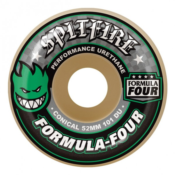 Roues Spitfire Formula Four 101D Conical Green Print