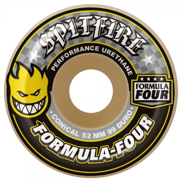 Roues Spitfire Formula Four Conical 99 Duro Yellow Print