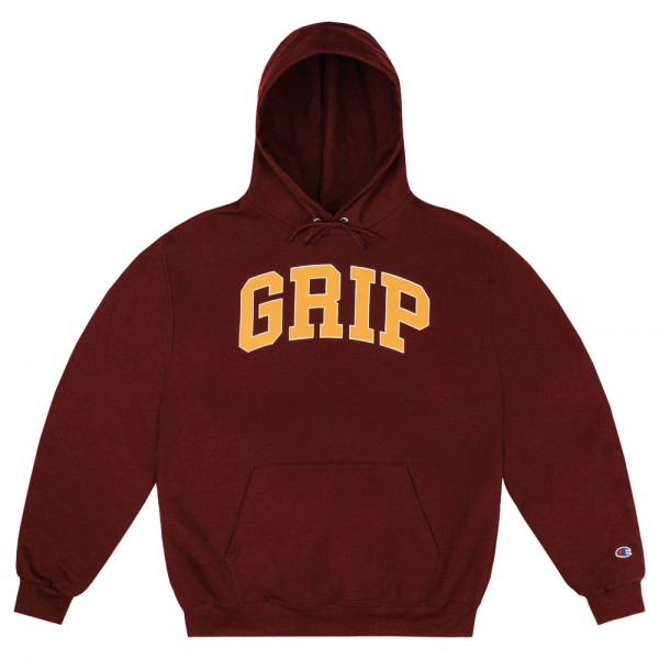 Sweat Capuche Classic Griptape Grip Hoodie With 90's Puff Print Burgundy