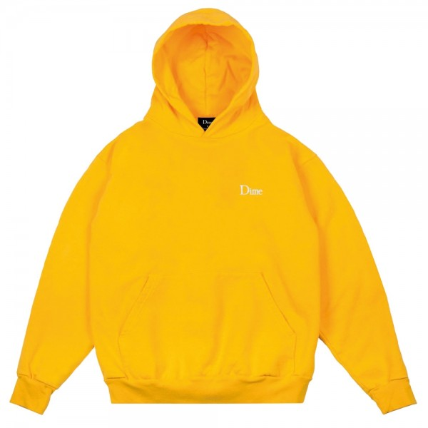 Sweat Capuche Dime Classic Embroidered Yellow