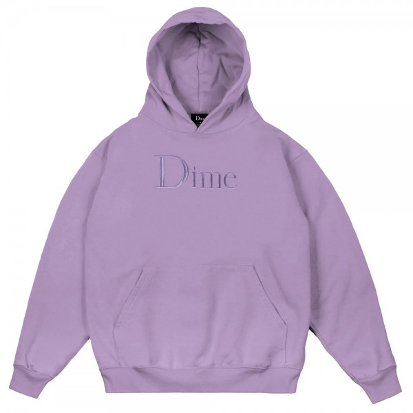 Sweat Capuche Dime Classic Logo Embroidered Hoodie Lilac