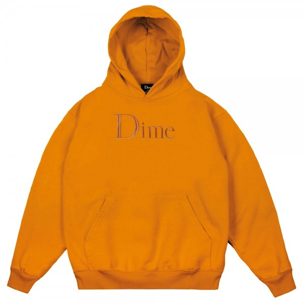 Sweat Capuche Dime Classic Logo Embroidered Hoodie Orange