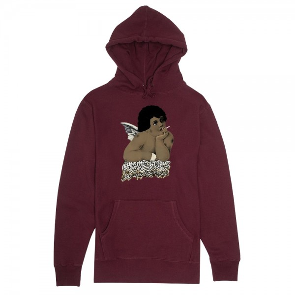 Sweat Capuche Fucking Awesome Angel 1 Maroon