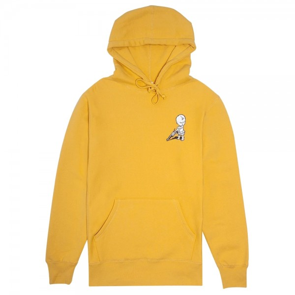 Sweat Capuche Fucking Awesome Baby Hoodie Mustard