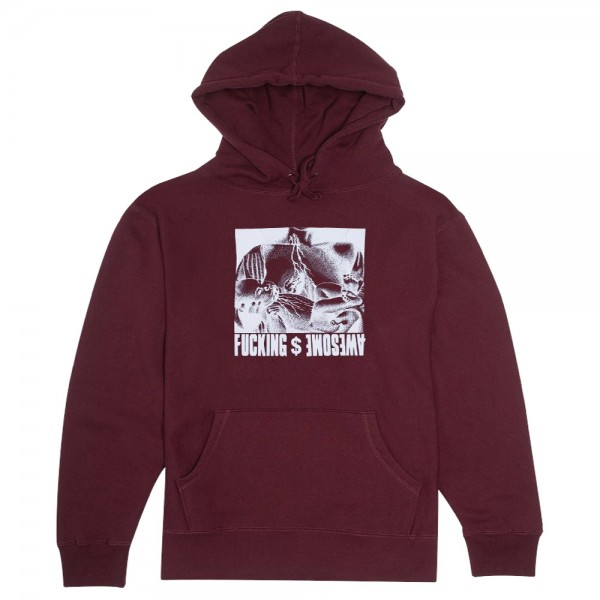Sweat Capuche Fucking Awesome Blood Baby Maroon