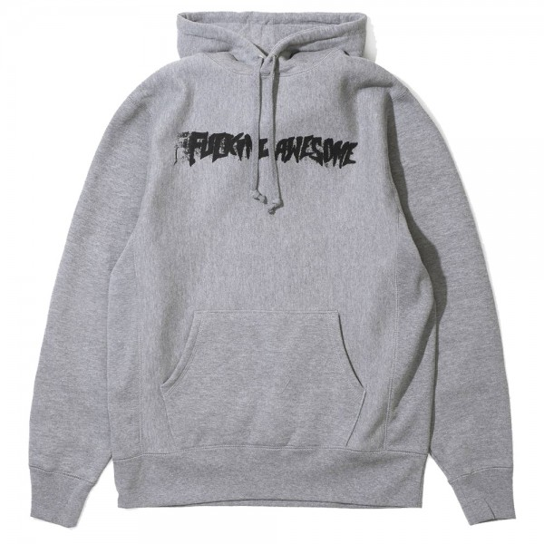 Sweat Capuche Fucking Awesome Stamp Grey Heather