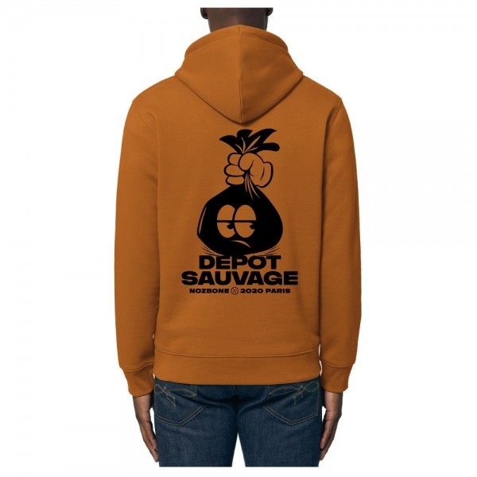Sweat Capuche Nozbone Dépôt Sauvage Logo Roasted Orange
