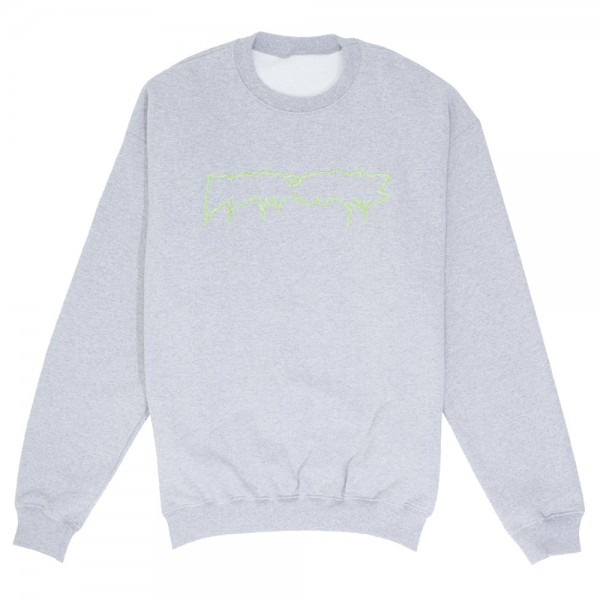 Sweat Crewneck Fucking Awesome Reversible Empty Drip Grey Heather