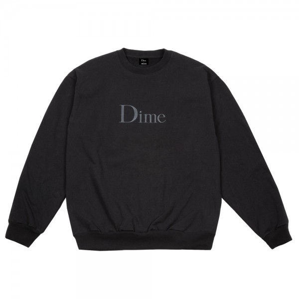 Sweat Dime Classic Embroidered Crewneck Black