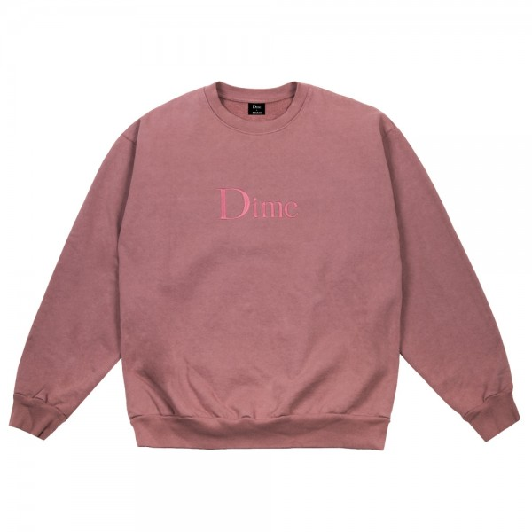 Sweat Dime Classic Embroidered Crewneck Fuchsia