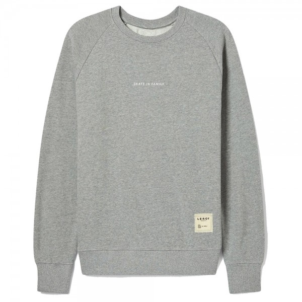 Sweat Leroy Republique Skate is Family Grey White Letters