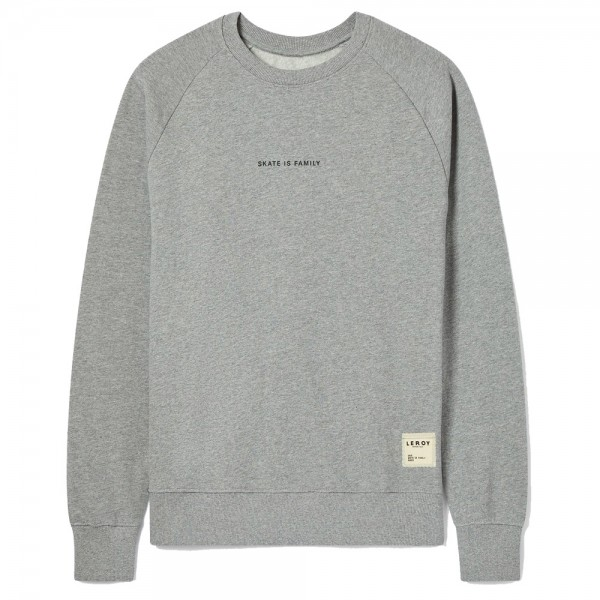 Sweat Leroy Republique Skate Is Family Grey Black Letters
