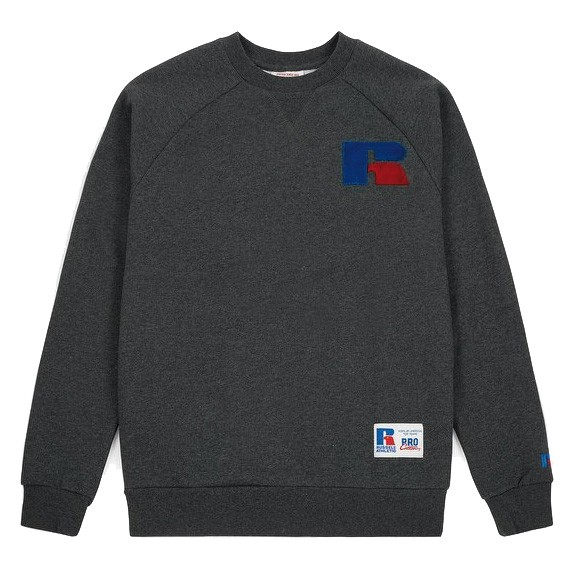 Sweat Shirt Russell Athletic Crewneck Gavin Raglan Charcoal Marl