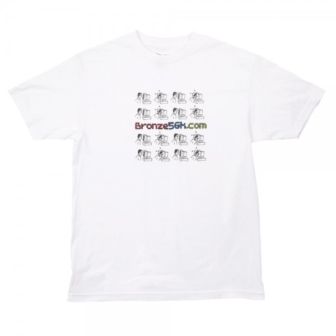 Tee Shirt Bronze 56K Mondays Tee White
