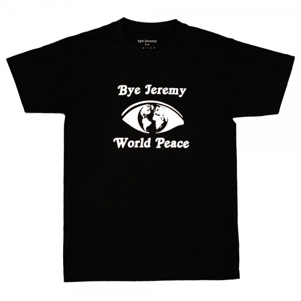 Tee Shirt Bye Jeremy World Peace Black