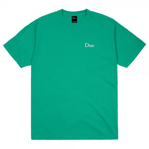 Tee Shirt Dime Classic Logo Embroided Emerald