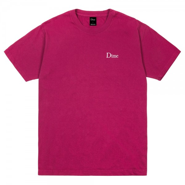 Tee Shirt Dime Classic Logo Embroided Ruby