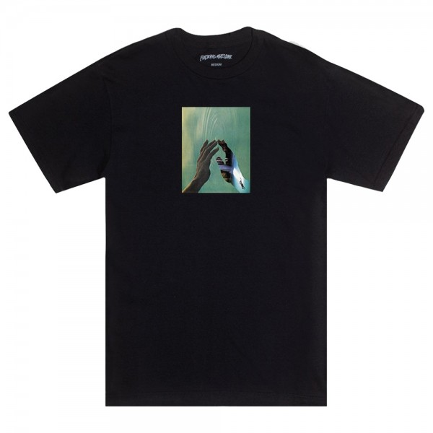 Tee Shirt Fucking Awesome Hand Light Black