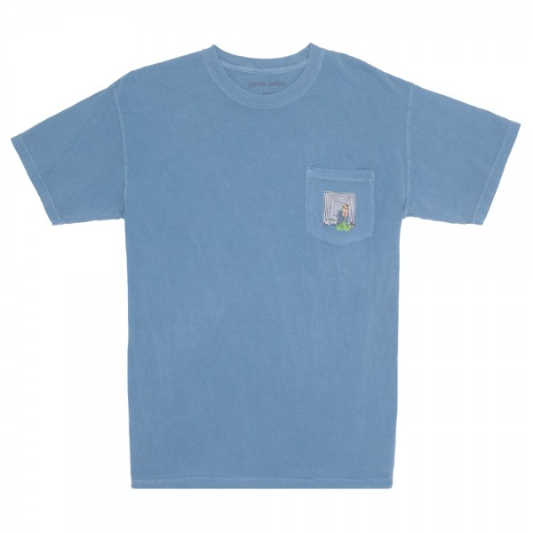 Tee Shirt Fucking Awesome X Scape Pocket Pigment Dyed Icy Blue