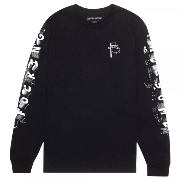 Tee Shirt Manches Longues Fucking Awesome Block Letters Black